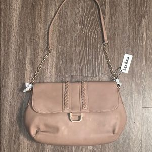 New light beige purse  with chain design
